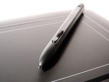 Teckningsminnestavla med blyertspennan Royaltyfri Foto