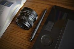 Teckningsuppsättning för grafisk formgivare Fotografering för Bildbyråer