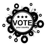 Tecla 1 do VOTO ilustração royalty free