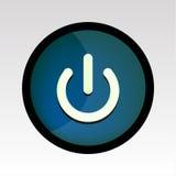 Tecla azul da potência Foto de Stock