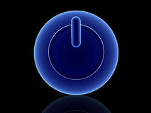 Tecla azul da potência Imagem de Stock Royalty Free