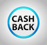 Tecla azul do círculo da parte traseira do dinheiro ilustração royalty free