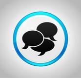 Tecla azul redonda do ícone da conversação ilustração royalty free