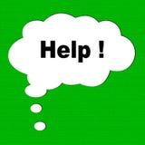 Tecla da ajuda isolada Imagem de Stock