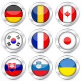 A tecla da bandeira nacional ajustou 3 Imagens de Stock Royalty Free