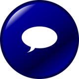 Tecla da bolha da conversa Fotografia de Stock Royalty Free