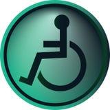 Tecla da cadeira de rodas Fotografia de Stock Royalty Free