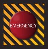 Tecla da emergência Imagens de Stock Royalty Free