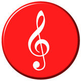 Tecla da música Imagens de Stock