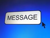 Tecla da mensagem Imagens de Stock