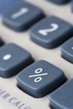 Tecla da porcentagem em uma calculadora Foto de Stock
