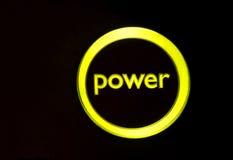 Tecla da potência Fotografia de Stock
