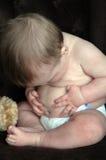 Tecla de barriga do bebê Imagens de Stock Royalty Free