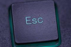 Tecla de escape en el teclado de ordenador Imagen de archivo libre de regalías