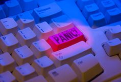 Tecla de pânico Imagens de Stock
