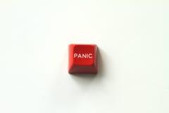 Tecla de pânico vermelha Foto de Stock Royalty Free
