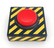 Tecla de pânico vermelha Foto de Stock