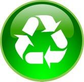 Tecla de recicl verde ilustração royalty free