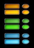 A tecla de vidro colorida ajustou 1 Imagens de Stock
