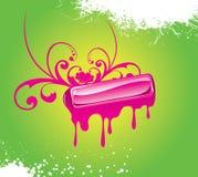 Tecla de vidro cor-de-rosa Ilustração Royalty Free