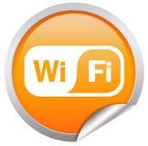 Tecla de Wifi sobre o branco Foto de Stock Royalty Free