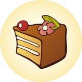 Tecla do bolo da sobremesa Imagens de Stock Royalty Free