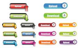 Tecla do Download da transferência de arquivo pela rede Imagem de Stock Royalty Free