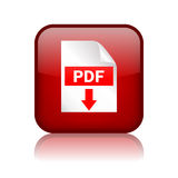 Tecla do download do pdf Imagem de Stock Royalty Free