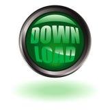 Tecla do Download redonda Imagem de Stock