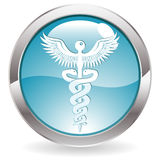 Tecla do lustro com sinal médico Fotografia de Stock Royalty Free