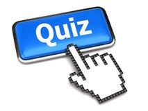 Tecla do Quiz e cursor da mão Foto de Stock Royalty Free