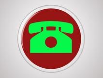 Tecla do telefone Imagens de Stock Royalty Free