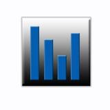 Tecla do Web da estatística Imagem de Stock Royalty Free