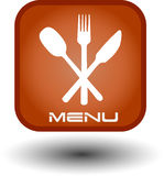 Tecla do Web de alimento Fotografia de Stock
