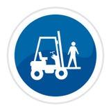 Tecla do Web do caminhão de Forklift Imagens de Stock Royalty Free