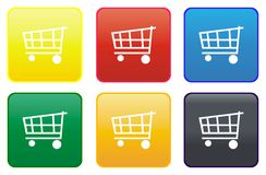 Tecla do Web do carro de compra Imagem de Stock Royalty Free