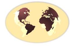 Tecla dos mapas ilustração stock