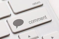 Tecla enter do comentário imagem de stock