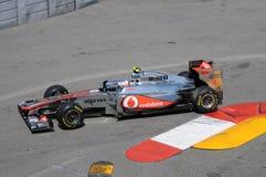 Tecla grande de Monaco Prix da fórmula 1 Fotografia de Stock Royalty Free