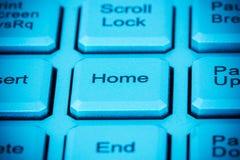 Tecla HOME del ordenador Foto de archivo libre de regalías