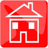 Tecla Home vermelha Imagem de Stock