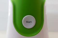 Tecla 'Iniciar Cópias' no fundo branco-verde Imagem de Stock