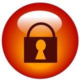 Tecla Locked do Web do cadeado ilustração stock