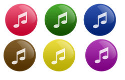 Tecla lustrosa da música Imagem de Stock Royalty Free