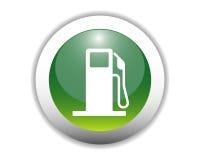 Tecla lustrosa do ícone do combustível ilustração stock