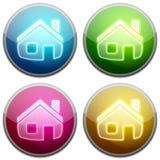 Tecla lustrosa - Home Imagens de Stock Royalty Free