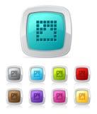 Tecla lustrosa - imagem de pixel Foto de Stock