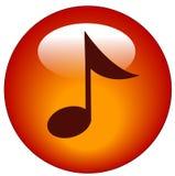 Tecla ou ícone do Web da música Imagem de Stock Royalty Free