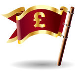 Tecla real da bandeira com euro- ícone da moeda Fotografia de Stock Royalty Free