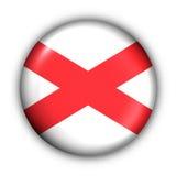 A tecla redonda EUA indic a bandeira de Alabama fotos de stock